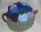 Coral Flower Tea Cosy - KNITTING PATTERN - pdf file by automatic download