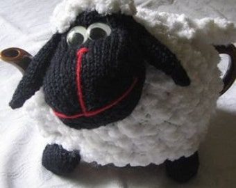 Sheep Tea Cosy - KNITTING PATTERN - pdf file by automatic download