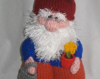 Gnome Tea Cosy and Toy Gnome - KNITTING PATTERN - pdf file by automatic download