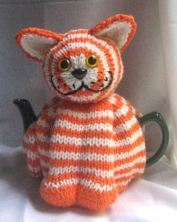 Cat Tea Cosy Knitting Pattern Downloadable File By