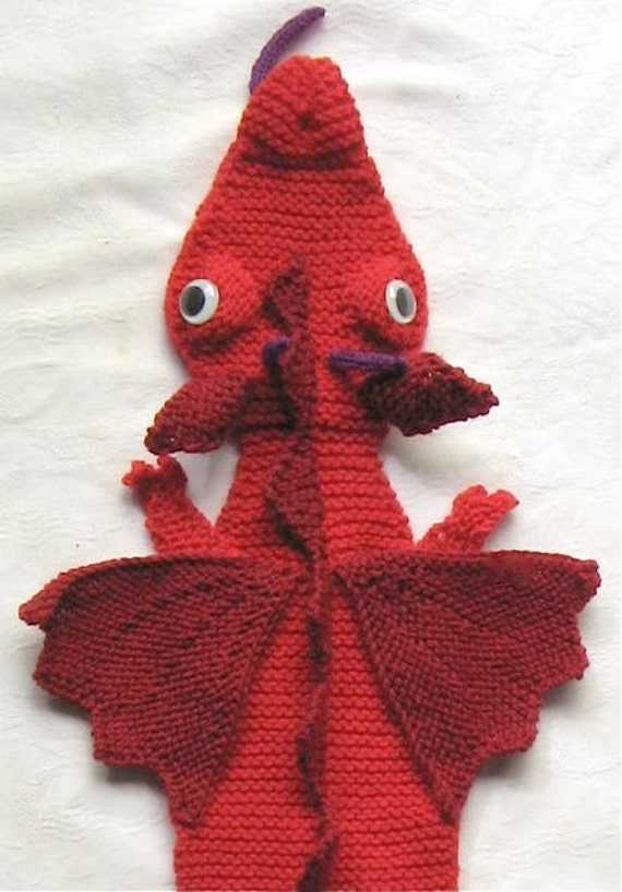 Knitting Pattern For Dragon Scarf : Dragon Scarf - KNITTING PATTERN - pdf file by automatic ...
