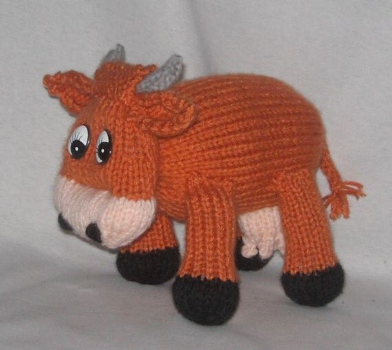 Knitting Pattern Cow Toy : Toy Cow KNITTING PATTERN downloadable file by RianAnderson