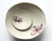Handmade ceramic bowls ( 2 piece set ) Orchid Collection.