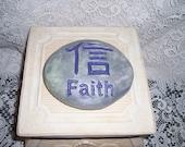 Concrete garden art Faith Rock Zen garden feng shui