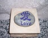 Concrete garden art Love Rock Zen garden feng shui