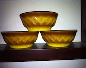 Set of 3 Vintage Fire King Kimberly Bowls