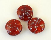Lampwork Bead Set  - 'Seeing Red'