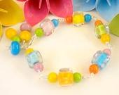 Bracelet Beaded Lampwork - 'Big Rock Candy Mountain'