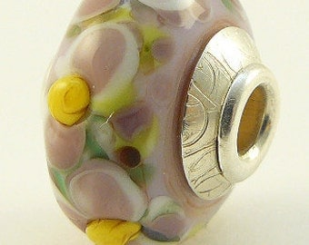 Lampwork Bead Sterling Cored Focal  - 'Flora'
