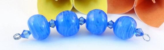 Lampwork Bead Set  - 'Summer Blue'