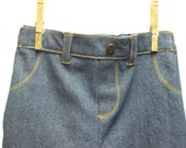 Baby Blue Jeans with topstitch detail