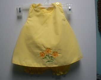 sweet yellow sundress with bloomers