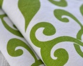 ORIENTAL SWIRLS hand screen printed fabric