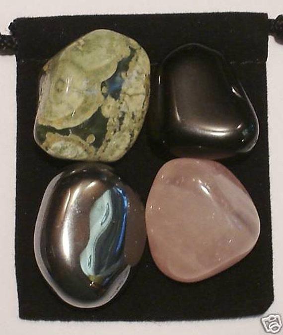 self confidence tumbled healing set 4 gemstones