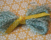 Shamrock Green and White Bakers Twine - 20 yards - Packaging, Gifts, Crafts, Party
