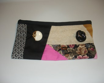 Cosmetic bag in black -  makeup bag - pencil case - free shipping etsy