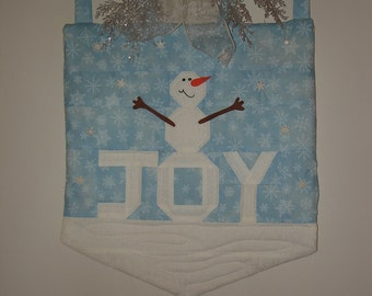 Snowman Wall Hanging - Quilted - Free Shipping Etsy