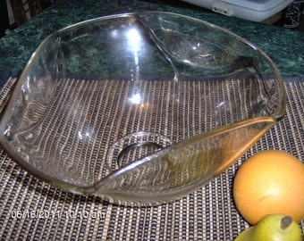 Retro Mid Century Drizzle Glass Fruit - Salad Bowl