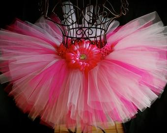Pink Tutu - pink birthday tutu, pink princess thtu, birthday outfit, 1st birthday outfit, pink out, pink