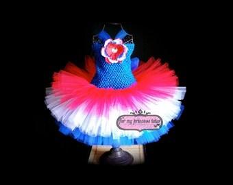 American Girl Tutu Dress 4th Of July Tutu dress -newborn tutu, baby tutu, toddler tutu, infant tutu, pageant tutu, baby shower tutu, TUTU