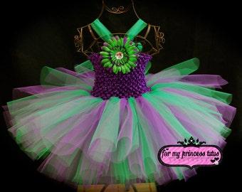 Garden Fairy Tutu Dress - newborn tutu, baby tutu, infant tutu, toddler tutu, dress up tutu, pageant tutu, wedding tutu, flower girl tutu