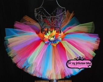 Red Rainbow Tutu -newborn tutu, infant tutu, baby tutu, toddler tutu, dance tutu, dress up tutu, pageant tutu, 1st birthday tutu, diva tutu