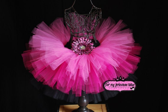 Triple Layer Diva Tutu - newborn tutu, infant tutu, toddler tutu, baby tutu, hot pink tutu, pink tutu, dance tutu, dress up tutu, diva tutu