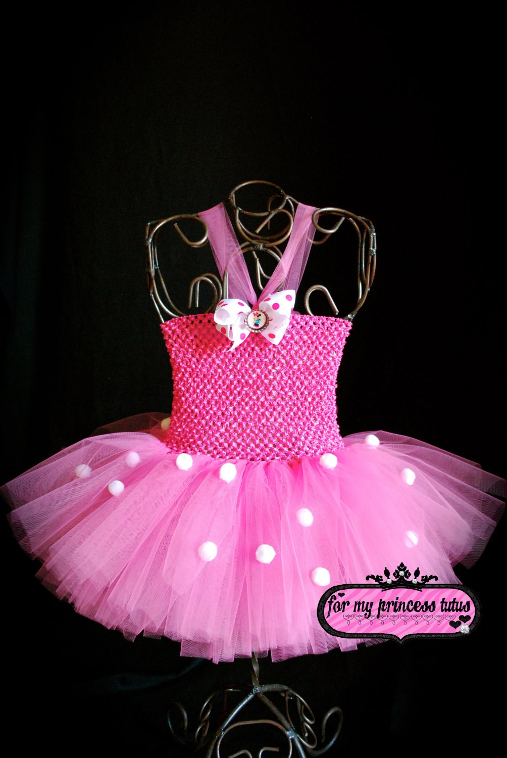 Pink Minnie Mouse Tutu Dress Headband