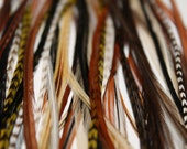 Flox Feather Hair Extensions- 12 natural salon quality loose feathers for feather hair extensions.