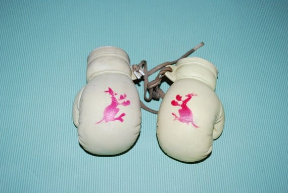 Vintage Alan Jay Rubber Kangaroo Boxing Gloves by ...