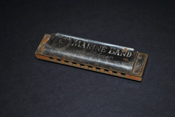 Vintage M. Hohner Marine Band Harmonica Key of D by ...