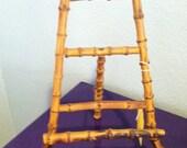 Wood bamboo art easel