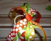 Citrus Fun Ponytail Streamers, All Sorts of Dots, Orange, Green, and Yellow, Super Summery