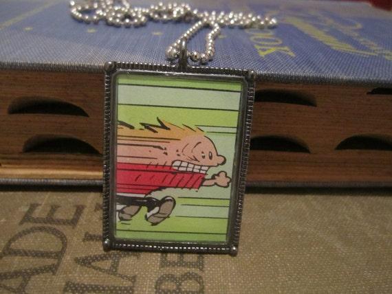 Calvin and hobbes: warp speed run pendant