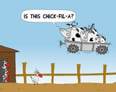 Space Cows Visit Farm And Ask Chickens About Fast Food Restaurant