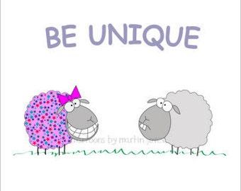 Funny Pink Shirt or Funny Mug for Girl With Funny sheep Mug and Shirt Set or print