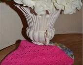 Bright Pink Dish Cloth 100% Cotton