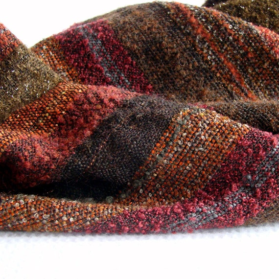 RESERVED - Handwoven Stole in Autumn Colours