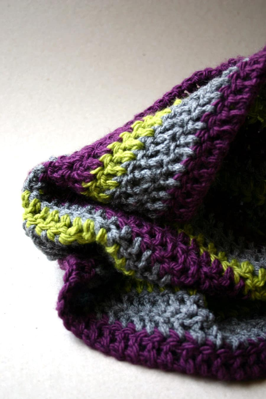 SALE  Crochet Infinity Scarf striped cowl circle scarf for autumn  Crochet Scarves For Sale