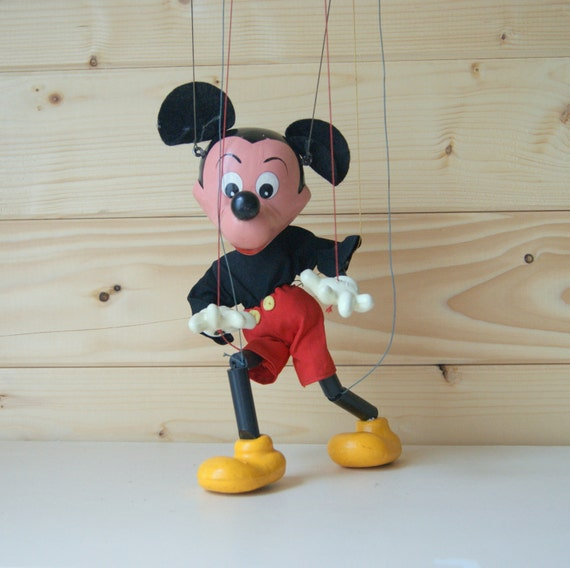Mickey Mouse disney Pelham Puppet wooden toy