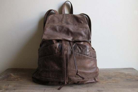 Upcycled Leather Backpack
