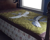 "Mythical Birds Fly on this Twin Quilt Pattern "" Katniss"""