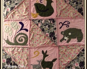 Woodland Animal Quilt Pattern