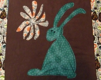 "Woodland Quilt Block Pattern, ""Rabbit"""