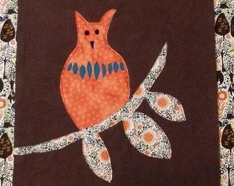 "Woodland Animal Quilt Block Pattern ""Owl"""