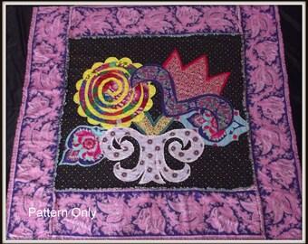 "Modern Quilt Pattern  ""Lush Flowers"""