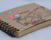 Excavator Mini Journal, notebook, sketchbook, scrabook, travel