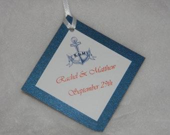 Nautical Wedding Favor Tags Set of 12