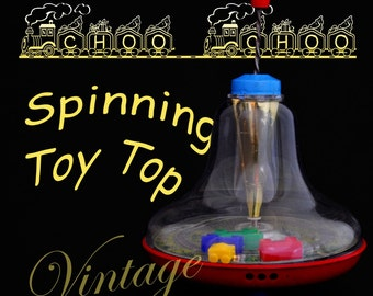 ON SALE 50% OFF Metal Vintage Spinning Toy Train Top