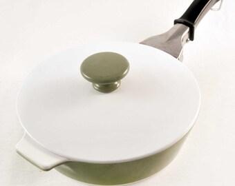 Retro Avocado Green Corning Ware Skillet/Casserole Dish